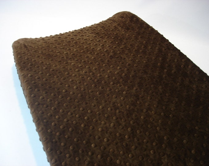 Minky Changing Pad Cover Brown Chocolate