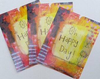 Oh Happy Day Postcard Set