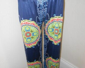 Psychedelic Yoga Pants, Shiny, Stretchy, Comfy Long Pants - Size XS