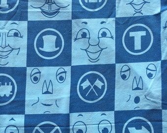 Keep on the Tracks with Thomas the Tank Engine TWIN Fitted Sheet - Reclaimed Bed Linens