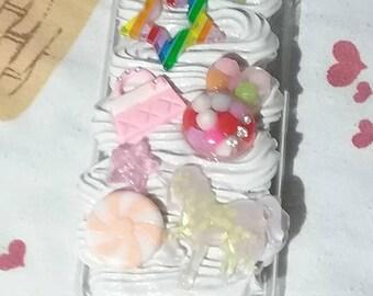 Kawaii Unicorn Peppermint star Bunny Iphone 5C Deco Case