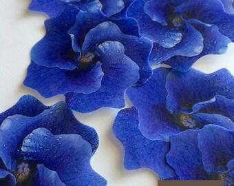 13 edible cake decoration - purple edible flowers -  edible wedding cake toppers - cupcake toppers - lavender edible decorations - Uniqdots