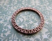 32mm ANTIQUE COPPER Radiant Ring, Copper Finish, 32mm Ring, Large Ring, Charm Holder, Large Radiant Ring, Circle, TierraCast