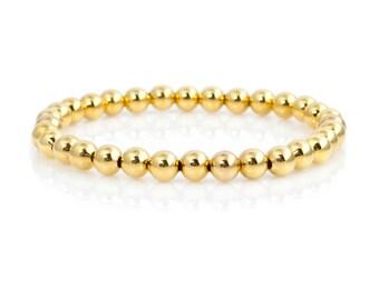 Gold bracelet,everyday bracelet,gold bead bracelet,gold jewelry,gold bracelet,gift for girlfriend, gift for her