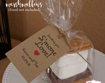 Smores Wedding Favor Tags, Smores Kit, Smores Favors, Rustic Favor tags Party Favor Tags Wedding Favor Smore Kits, Bridal Shower Smores