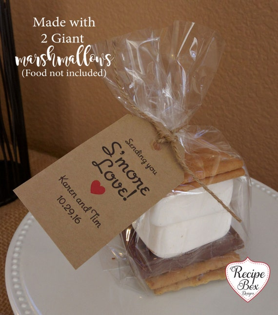 Smores Wedding Favor Tags Kit Favors Rustic