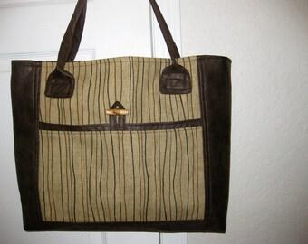 Brown tote bag - Medium