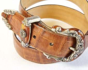 Vintage brown Brighton Leather Belt size medium