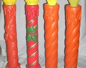 "Reserved for Judy Vintage Lighted Blow Mold Christmas Candles Decoration 37"" Union"