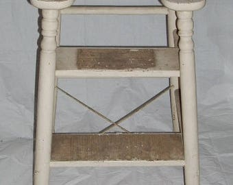 Vintage Wooden Step Ladder Book Shelf Garden Decor