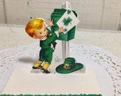 Vintage St Patrick's Day themed place cards