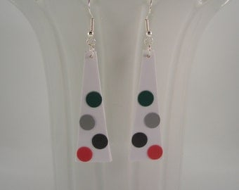 Polkadot Earrings Handmade with Plastic Materials, Fun to wear