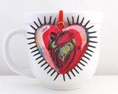 Sacred Anatomical Heart Tree Ornament - Anatomical Heart Ornament - Cardiology Tree Ornament