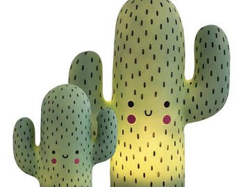 Super Cute Kawaii Happy Cactus Night Light Lamp