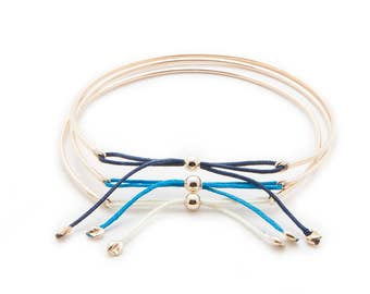 1.5MM 14K Gold Bow Tie Bracelet
