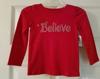 Believe Bling Top, Size 12-18 mo, RTS