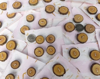 Tree branch buttons set of four rustic buttons