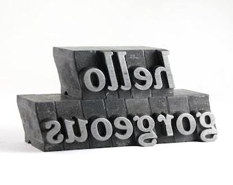 Hello Gorgeous - 48pt Vintage Metal Letterpress