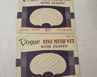 Vintage Pair Vogue White Hair Nets