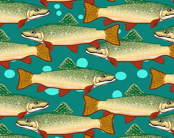 Brown Trout fabric