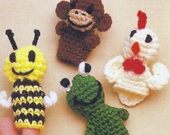 Finger Puppets Vintage Crochet Pattern