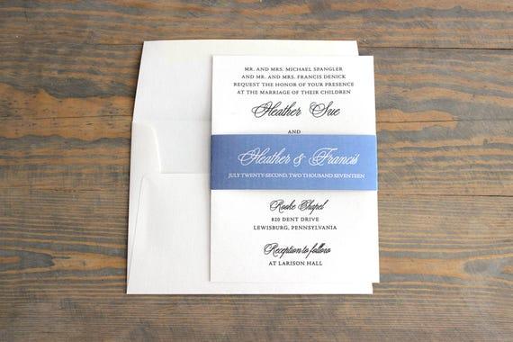 elegant wedding invitation, blue wedding invitation, simple wedding invitation, shimmer wedding invitation, modern wedding invitation
