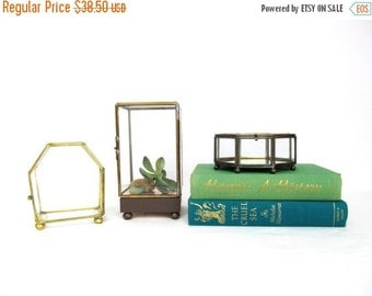 On Sale Vintage Grass and Brass Box Instant Collection, Tall Rectangle, Octagon, Hexagon, Polygons,