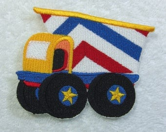 Dump Truck Patch Embroidered Iron on Applique Patch Ready to Ship