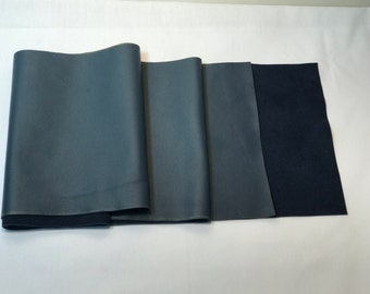Gorgeous Italian leather in navy blue