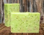 BERGAMOT & LEMONGRASS Soap, Homemade Essential Oil Scented Soap, Vegan Soap