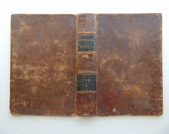 1834 Antique Leather Book Covers