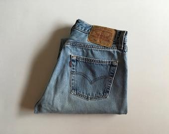 Reserved Vintage Men's 80's Levi's 501, Selvedge Jeans, Blue, Red Tab, Denim (W29 x L31)