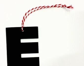 "Vinyl Record Art: Letter ""E"" Ornament"