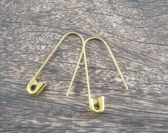 Safety pin jewelry, a pair of safety pin earrings, I am safe with you, equal, anti racism