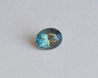 Madagascan Scapphire, Unheated Sapphire, Teal Sapphire, Sapphire Oval, Bi-Color Sapphire, Blue Sapphire, 6x5mm sapphire