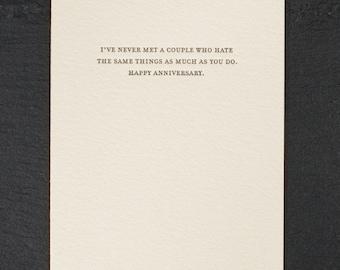 couple. letterpress card. #834