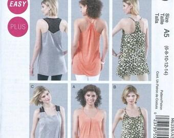 UNCUT McCall's Pattern M6359 Size A5 (6-8-10-12-14) Misses' - Women's Tunics