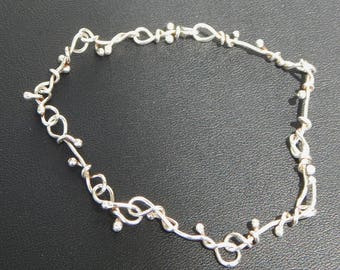 Twisted Silver Bracelet - Sterling Silver
