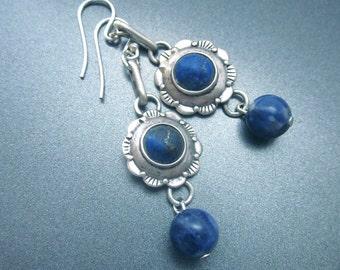 Lapis Dangle Drop Earrings Lapis Lazuli Jewelry