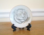 Vintage Ring Dish, Tiger, Ring Plate, Jewelry Holder, Home Decor, Tiger Plate, Storage, Ring Holder, Jewelry Holder, Collectible Plate