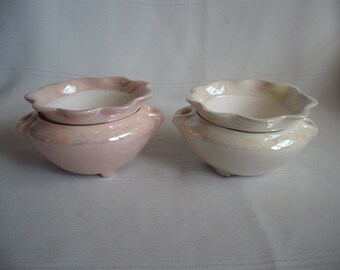 Ceramic African Violet Pot/ Planter/ Extra Small No. 3 / Mother of Pearl
