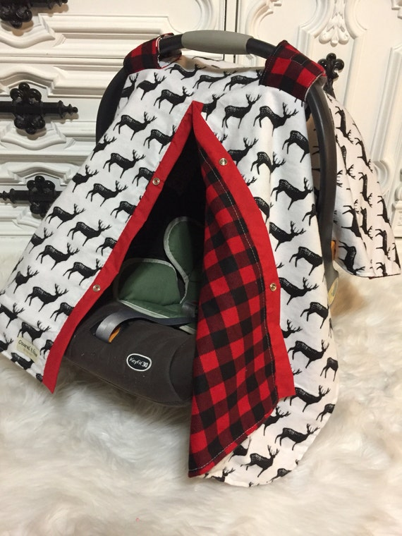 Deer car seat cover / nursing cover / carseat canopy / carseat cover / deer / arrow / boy