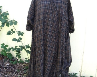 vintage krista larson dress  ...  plaid cotton  ...   iconic
