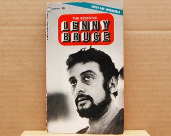 Vintage Book The Essential Lenny Bruce First Edition Paperback Standup Comedy Comedian Humor 1960s Collectible.