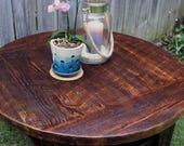 "RESERVED for Charlene // Custom Round Coffee Table.  32"" diameter x 21"" tall - Handmade"