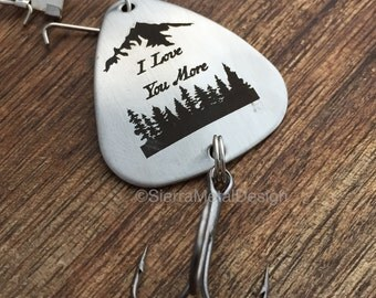 I Love You More Fishing Lure Christmas Gift Mens Gift Fishing Lure Engraved For Him Engraved Fishing Lure Valentines Day Gift