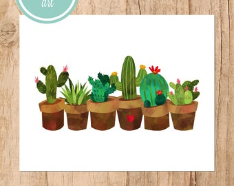 Potted Cactus Printable Art
