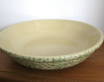 "Robinson-Ransbottom Spongeware Green 12"" Pasta Bowl"