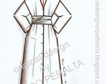 DUSTER-DRESS & SASH pattern.-
