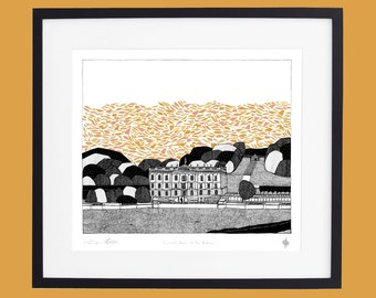 Chatsworth House - In the Autumn Limited Edition Screen Print